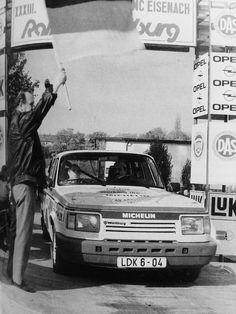 """19.Oktober 1990 der letzte Start eines Wettkampfwagens der AWE-Sportabteilung zur """" Rallye Wartburg"""""""