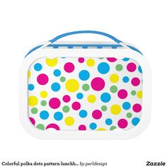 Colorful polka dots pattern lunchbox