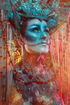 COLORS OF THE WORLD   photo: Josefien Hoekstra  Make-up/ styling/ model: candy makeup artist  Want to buy handmade styling/ headdresses, or hire me? Click on the link!