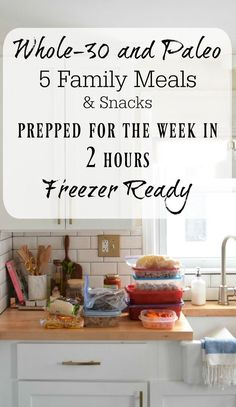 Whole-30 and Paleo Family Meals- Freezer Ready