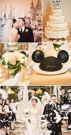 Disney wedding!!! I think I want a disney wedding just to show my babies every girl deserves to be a disney princess