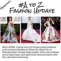 A-Z Fashion Update - Ball Gown