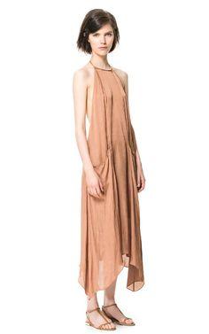 VESTIDO LARGO BOLSILLOS - Maxi - Vestidos - Mujer | ZARA España
