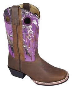 For one of the best high quality, affordable boots try Smoky Mountain Boots. These sassy girl's leather boots feature a man made lining, rubber sole, and square toe. Perfect for everyday wear, these boots are ready for a day full of play! Purple Cowboy Boots, Brown Boots, Western Wear, Western Boots, Cowboy Boots Drawing, Purple Camo, Asics Men, Square Toe Boots, Kids Boots