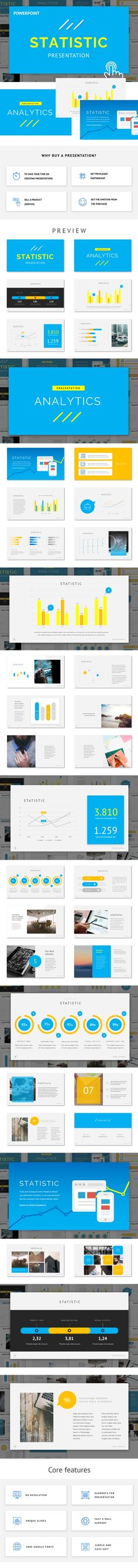 Statistic - Powerpoint Template - PowerPoint Templates Presentation Templates