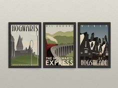 Harry Potter Travel Poster Series Hogwarts Express by 716designs $19.50