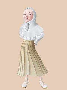 Hijabi Girl, Girl Hijab, Girl Cartoon, Cartoon Art, Islamic Cartoon, Anime Muslim, Hijab Cartoon, Emoji Wallpaper, Cute Cartoon Wallpapers