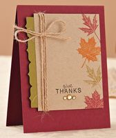 Give Thanks Card | November/December 2011 | Paper Crafts
