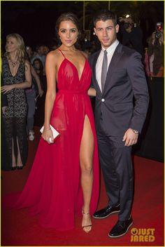 Nick Jonas & Girlfriend Olivia Culpo Heat Up The Red Carpet at Mipcom's Opening Night Party 2014!