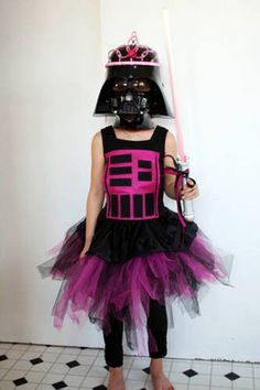 scary darth vader pink princess mashup
