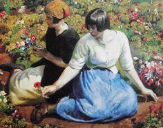 Picking Flowers - Harold Harvey   Eva's blog