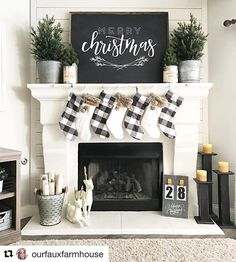 """14 Likes, 4 Comments - Matthew Iacopelli (@decoratingwithless) on Instagram: """"I'm a big fan of neutral Christmas decorating. I ❤️️how Holly from @ourfauxfarmhouse has decorated…"""""""