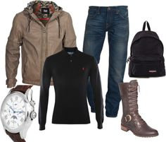 Hiking Outfit Male By Kitkuipers Liked On Polyvore