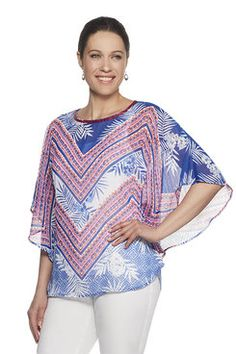 Shop our lively selection of Ruby Rd Missy tops. A variety of styles for all occasions including: sharkbite hem tops, bell sleeve tops, embellished tops, blouses, tees and shirts. Bell Sleeves, Bell Sleeve Top, Butterfly Top, Embellished Top, Tees, Shirts, Tropical, Blouse, Shopping