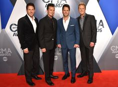 Parmalee from 2015 CMA Awards Red Carpet Arrivals  Gang's all here!