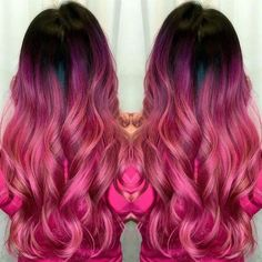 Black to pink ombre hair color - Hair Colors Ideas