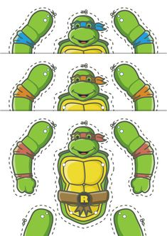 TMNT jumping jack puppets