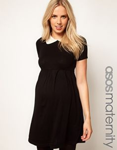 ASOS Maternity | ASOS Maternity Knitted Dress With Peter Pan Collar at ASOS