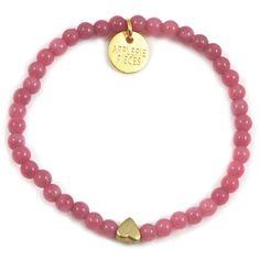 Hearts & stars armband raspberry jade #applepiepieces