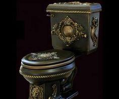 renaissance kitchen and bath Gothic House, Victorian Gothic, Victorian Toilet, Gothic Mansion, Gothic Furniture, Cool Furniture, Toilette Design, Toilet Art, Steampunk Accessoires