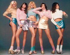 Nadja Auermann, Christy Turlington, Claudia Schiffer, Cindy Crawford og Stephany Seymour.