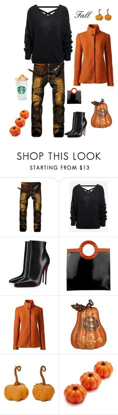 """Fall 🍁"" by kotnourka ❤ liked on Polyvore featuring Christian Louboutin, Givenchy, Lands' End, Honey and Me and Sur La Table"