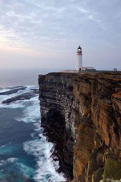 "sillgrissla: ""Noup Head Lighthouse, Orkney, Scotland. ♥ """