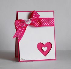 Just a real simple Valentine's Day card. Card Challenge:Theme:Valentine's Day Thanks for looking Valentine Love Cards, Valentine Crafts, Heart Cards, Card Sketches, Creative Cards, Anniversary Cards, Greeting Cards Handmade, Scrapbooks, Scrapbook Cards