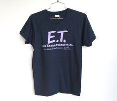 SOLD / Authentic Vintage 1982 E.T. / The Extra-Terrestrial Movie Promo Tshirt / Unisex Tee by VelouriaVintage on Etsy $34.00