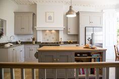 Shaker style oak kitchen with island