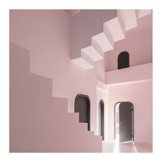 Studio 10 designs illusory MC Escher-inspired interiors for guesthouse in China Guilin, In China, Journal Du Design, Dream Pictures, Dream Studio, Black Doors, Hotel Interiors, Green Rooms, Maze