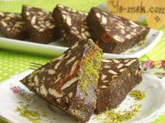 Bisküvili Mozaik Pasta Resmi, Kolay ve Resimli Nefis Yemek Tarifleri