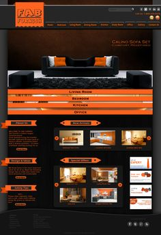Web Layout for a Furniture Co.