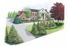1000 images about circle drive landscapes on pinterest Semi circle driveway designs