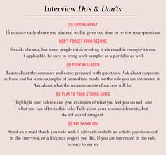 Getting ready for an interview?
