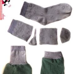 Socken als Ärmelbündchen