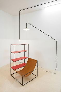 Muller Van Severen - hanging lamp - rack + seat - Workshop of Wonders