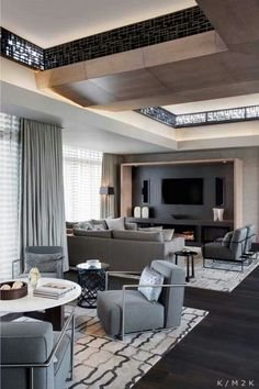 House Apartment: Elegance Luxuriance Penthouse Design In Cape Town, Africa.  Brownies Living Room Design With Wooden Floor