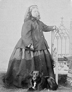 HM Queen Victoria of Great Britain and Canada, with her dog Sharp, 1867