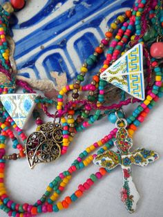 Colors of PORTUGAL Azulejos Necklace Tile Replicas and by Atrio. , via Etsy.