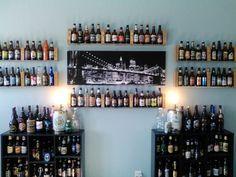 Literally walls full of single beer bottle - depth shelving.