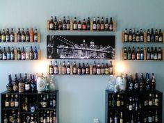 Easy way to display your beer bottles!!