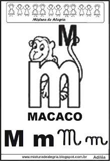 Alfabeto ilustrado letra M