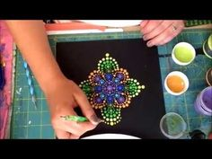How to paint Rock mandalas #7-Spring Green - YouTube