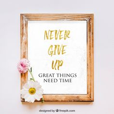 Never Give Up - Inspirational Quote - Gold Text Wall Art Print - Strong Message Print Wall Art Prints, Fine Art Prints, Time Design, Inspirational Wall Art, Touch Of Gold, Poster Making, Large Wall Art, Never Give Up, Creative Inspiration