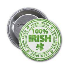 100% Irish Button