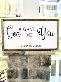 Excited to share the latest addition to my shop: God Gave Me You Farmhouse Signs, Farmhouse Decor, Front Porch Signs, Newlywed Gifts, Painted Wood Signs, Decor Wedding, Wedding Anniversary Gifts, Wood Design, Painting On Wood