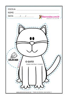 ALFABETIZAÇÃO - O GATO - LIVRINHO E ATIVIDADES - Alfabetizar com AMOR Cut And Paste, Preschool Crafts, Snoopy, Fictional Characters, Letter G Activities, Reading Activities, Interactive Activities, Apps For Education, Gatos