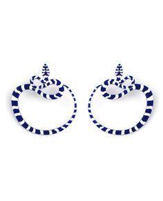 Image result for acrylic snake earrings blue