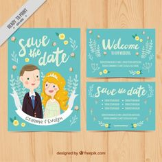 Lovely wedding card in vintage style Free Vector